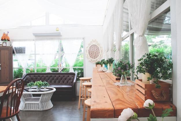 Café de boulangerie maison style vintage et confortable. Photo Premium