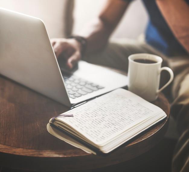 Café café communication occasionnelle internet concept Photo Premium