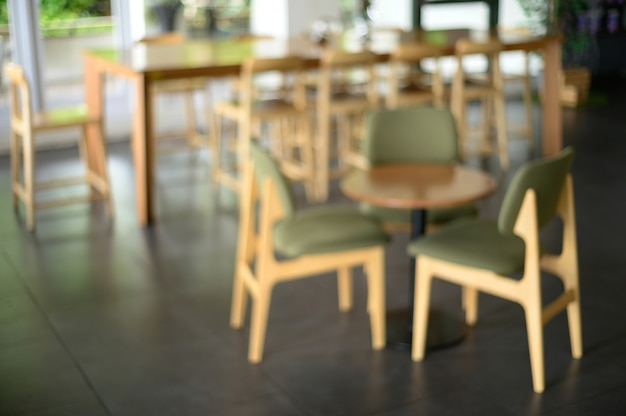 Café, comptoir, café, restaurant, intérieur, brouillé Photo Premium