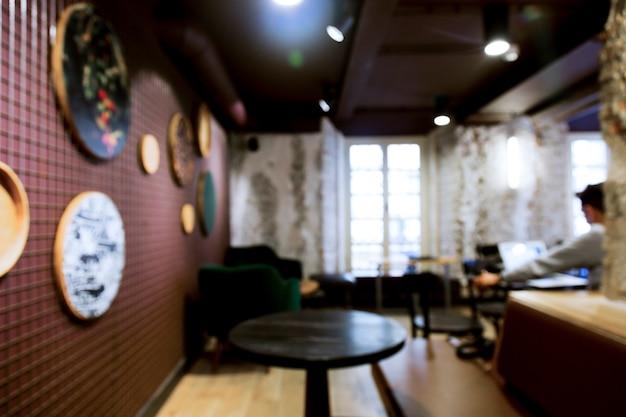 Café avec effet flou Photo gratuit