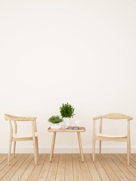Café ou salle à manger - rendu 3d Photo Premium