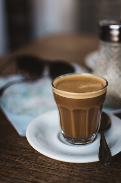 Café en verre Photo gratuit