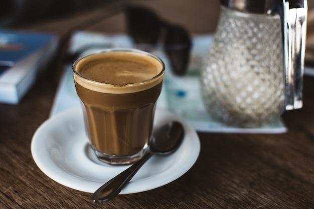 Café en verre Photo gratuit