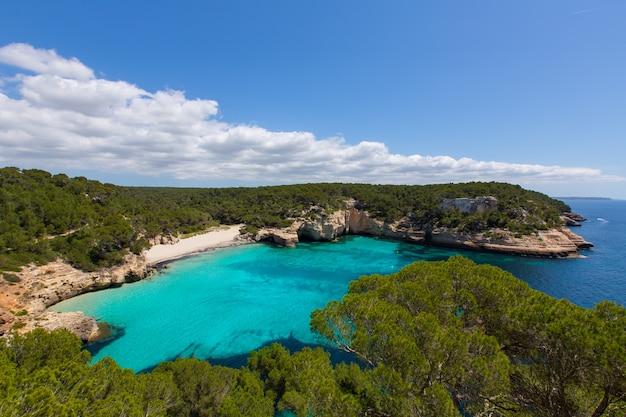 Cala Mitjaneta à Minorque Ciutadella Aux Baléares Photo Premium