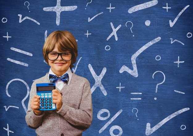 Calculatrice enfant éducation finance copie espace Photo gratuit