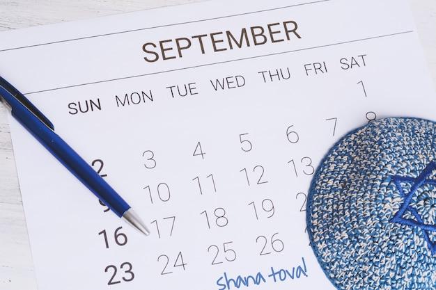 Calendrier de septembre avec Photo Premium
