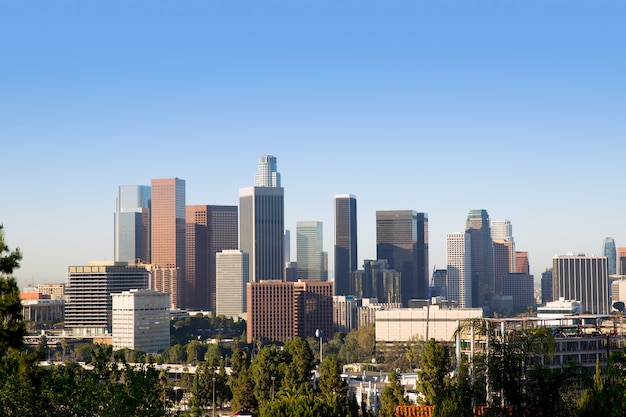 Californie du centre-ville de los angeles Photo Premium