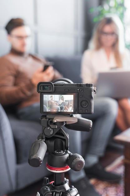 Caméra Rapprochée Pour Le Journalisme Photo gratuit