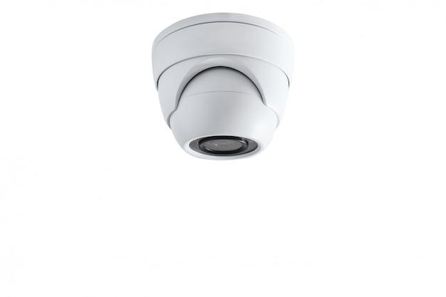 Caméra De Surveillance En Gros Plan. Système De Sécurité. Photo Premium