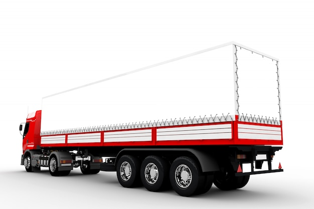 Camion rouge et blanc Photo Premium