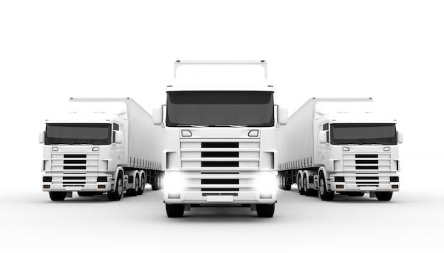 Camions blancs Photo Premium