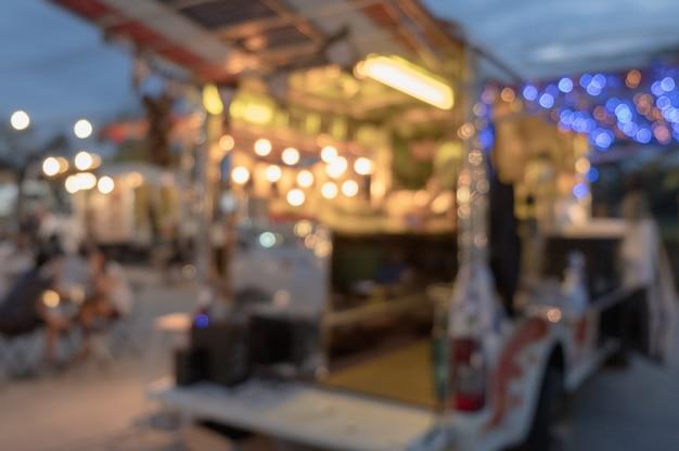 Camions Légers De Défocalisation Flous Photo Premium