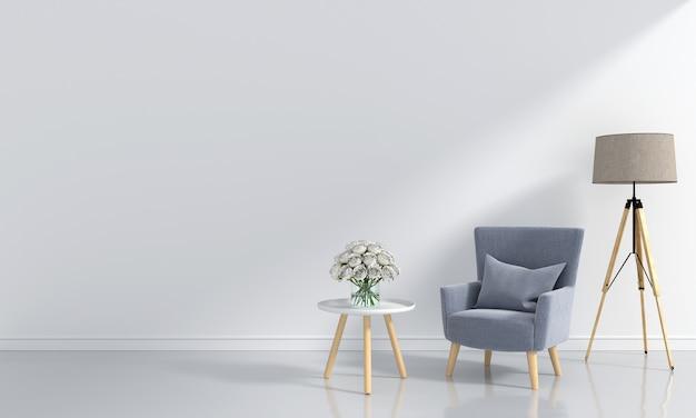 Canapé gris dans la chambre blanche Photo Premium