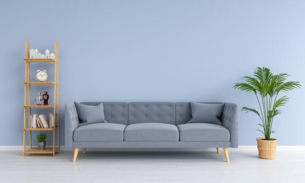 Canapé gris dans le salon Photo Premium