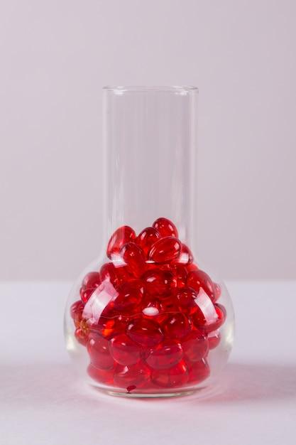 Capsule rouge médical vitro Photo Premium
