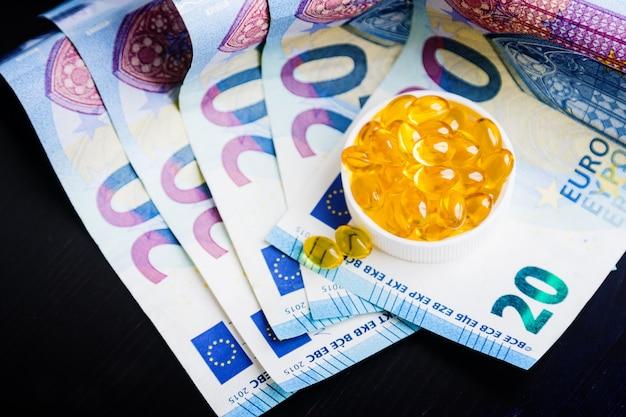 Capsules d'huile de poisson Photo Premium