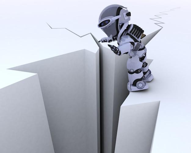 Caractère De Robot, Surface Fissurée Photo gratuit