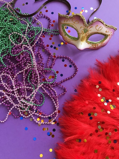 Carnaval. mardi gras. carnaval brésilien. printemps Photo Premium