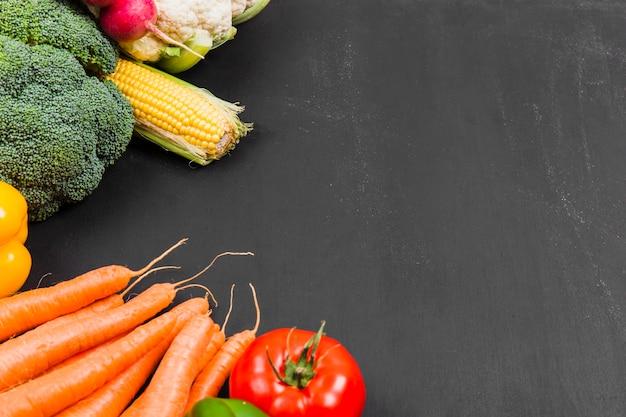 Carottes, brocolis et légumes Photo gratuit