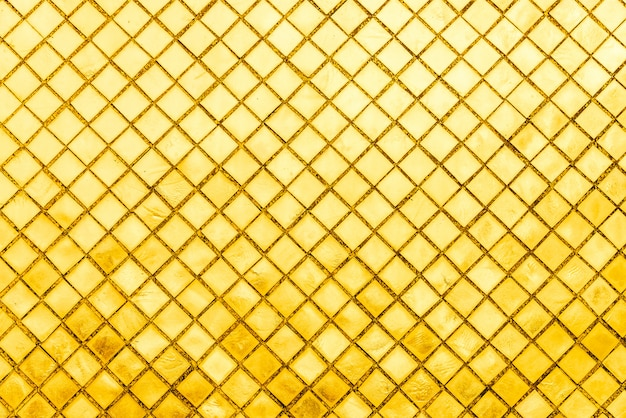 Carreau de mosaïque d'or Photo gratuit