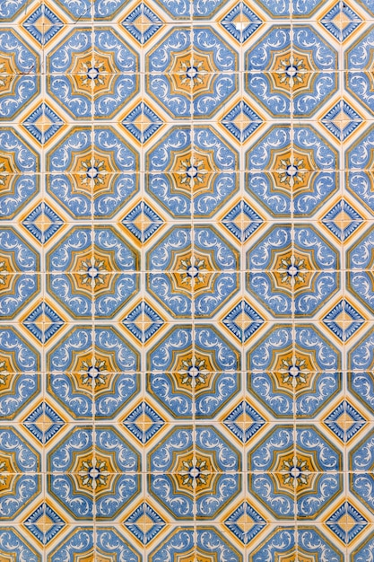 Carreaux azulejo dans le mur Photo Premium