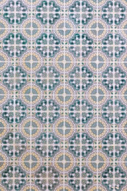 Carreaux d'azulejo portugais Photo Premium