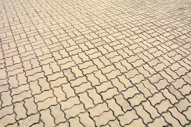 Carreaux de pavage à motifs, vieux fond de plancher de brique de ciment Photo Premium