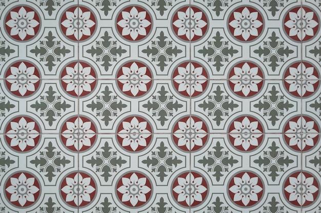 Carrelage motif floral vintage. Photo Premium