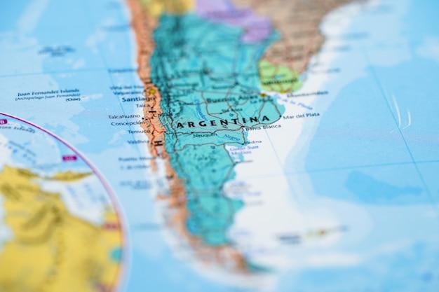 Carte de l'amérique du sud, argentine Photo Premium
