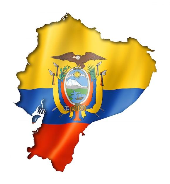Carte du drapeau équatorien Photo Premium