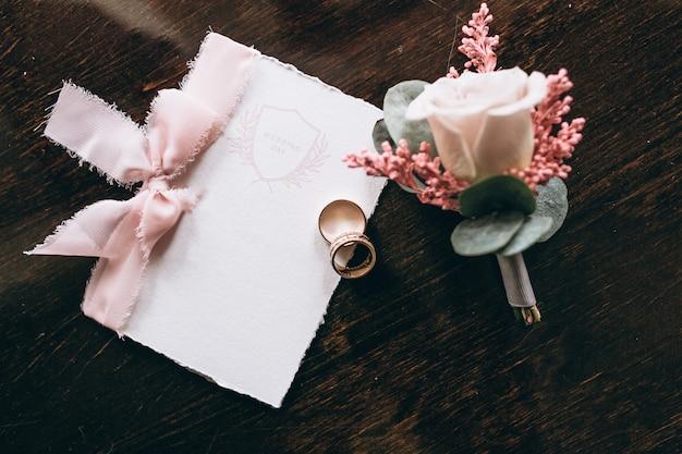 Carte d'invitation de mariage Photo gratuit