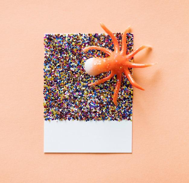 Carte de papier scintillant et brillant Photo gratuit