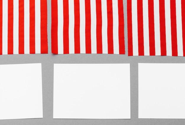Carte de visite vierge avec drapeau américain Photo Premium