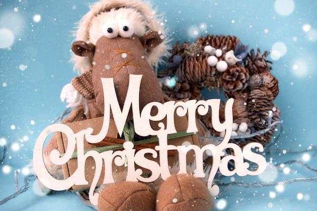 Carte De Voeux Joyeux Noël Et Bonne Année. Photo Premium