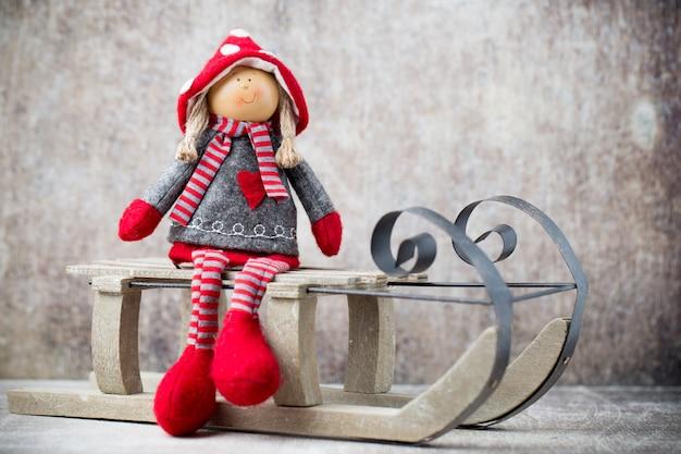 Carte De Voeux De Noël Noel Gnome Photo Premium