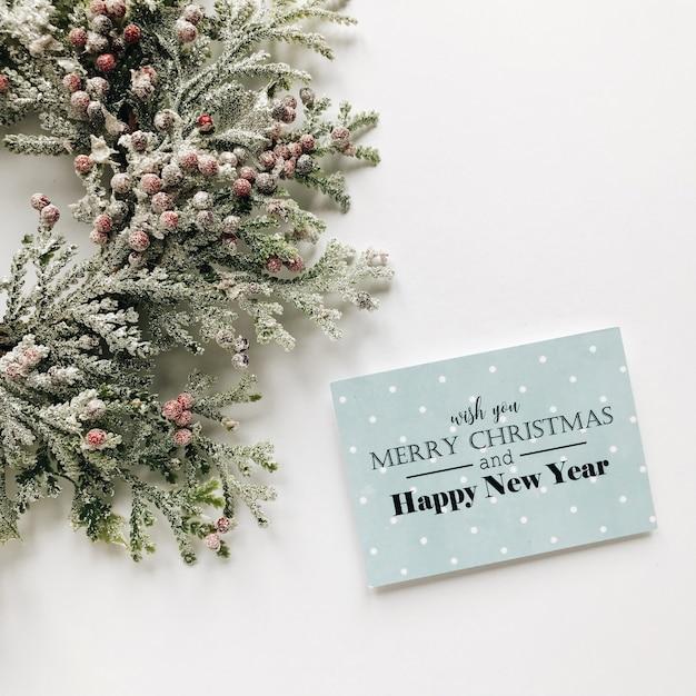 Carte De Voeux De Noël Photo Premium