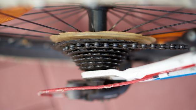Cassette de vélo en gros plan Photo Premium