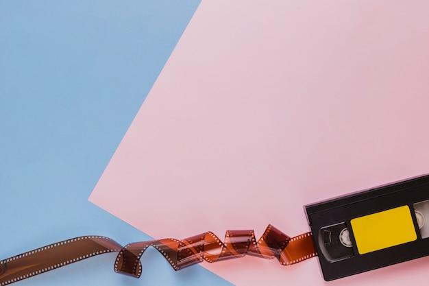 Cassette Vidéo Avec Celluloïd Photo gratuit