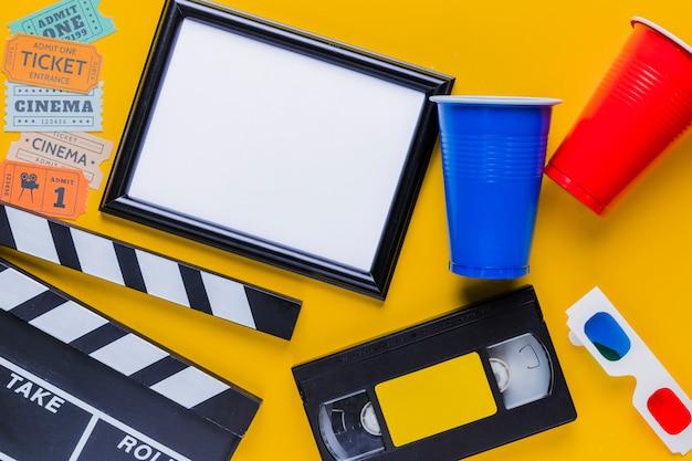 Cassette Vidéo Avec Clapet Et Cadre Photo gratuit