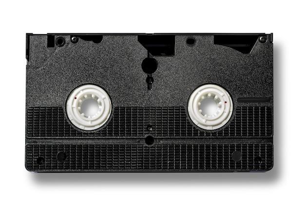 Cassette Vidéo Vhs Vierge Isolé Sur Blanc Photo Premium