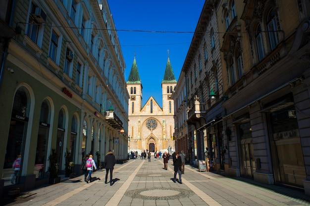 Cathédrale du coeur sacré de jésus, sarajevo Photo Premium