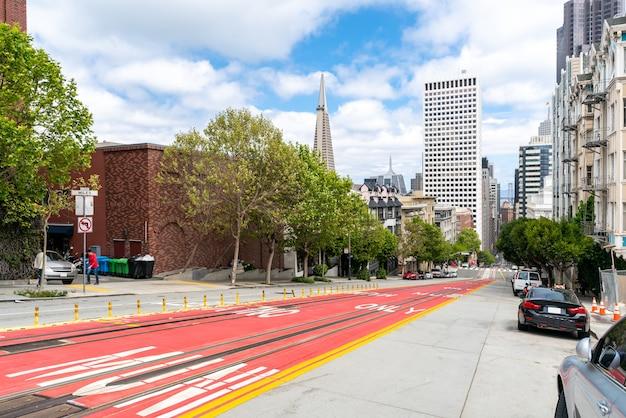 Centre-ville De San Francisco à California Street Photo Premium
