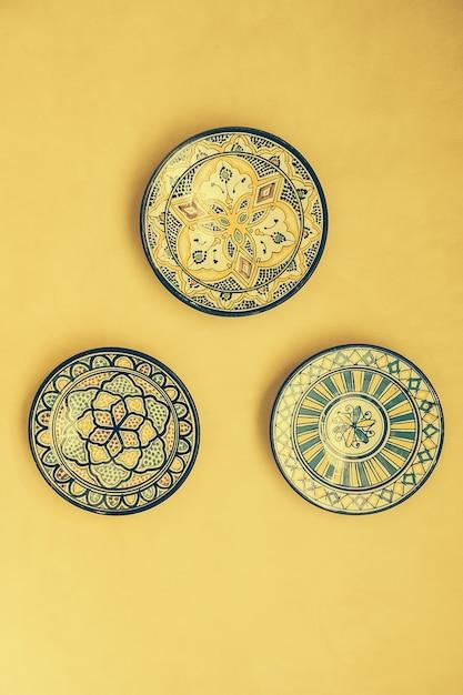 La céramique médina vintage plat traditionnel Photo gratuit