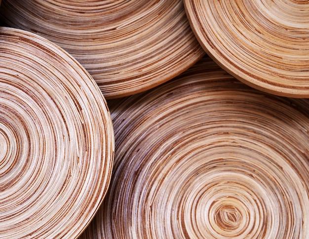 Cercle abstrait texture en bois vintage. Photo Premium
