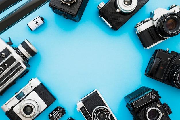 Cercle des caméras et film Photo gratuit