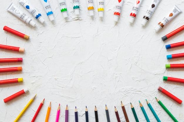 Cercle en matériel de peinture Photo gratuit