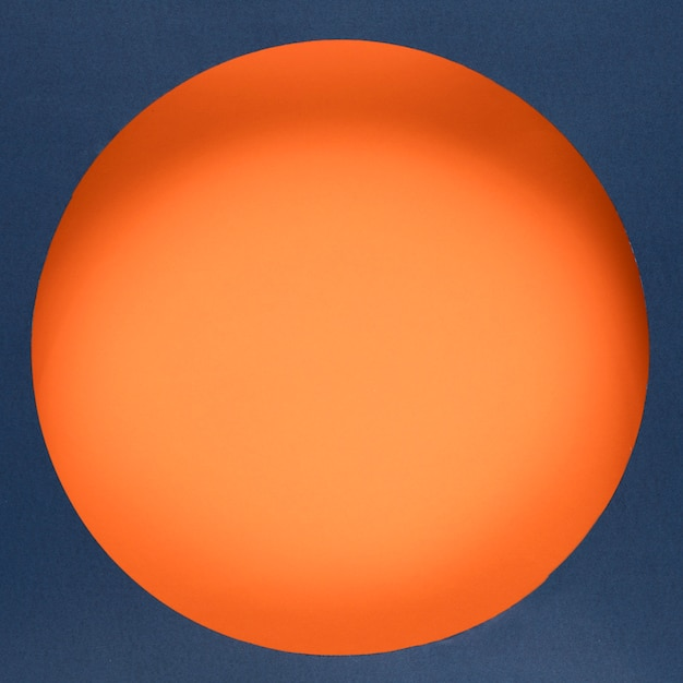 Cercle orange en ligne cyber lundi Photo gratuit