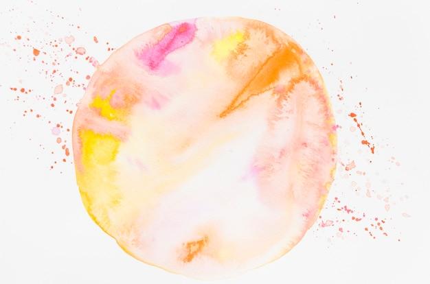 Cercle peint à l'aquarelle sur papier blanc Photo gratuit