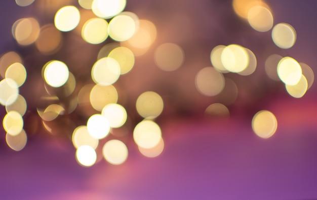 Cercles De Bokeh Jaune Abstrait Sur Fond Flou Photo Premium