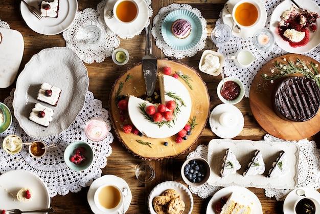 Cérémonie fête boulangerie bonbons bonheur Photo Premium